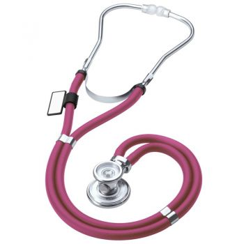 MDF® Sprague rappaport dual head stethoscope with adult, pediatric, and infant convertible chestpiece - Burgundy